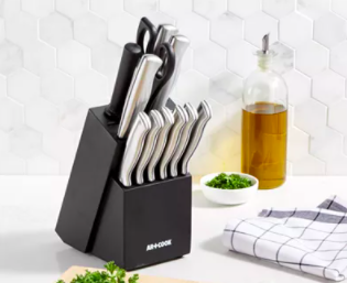 macys knife block set deal