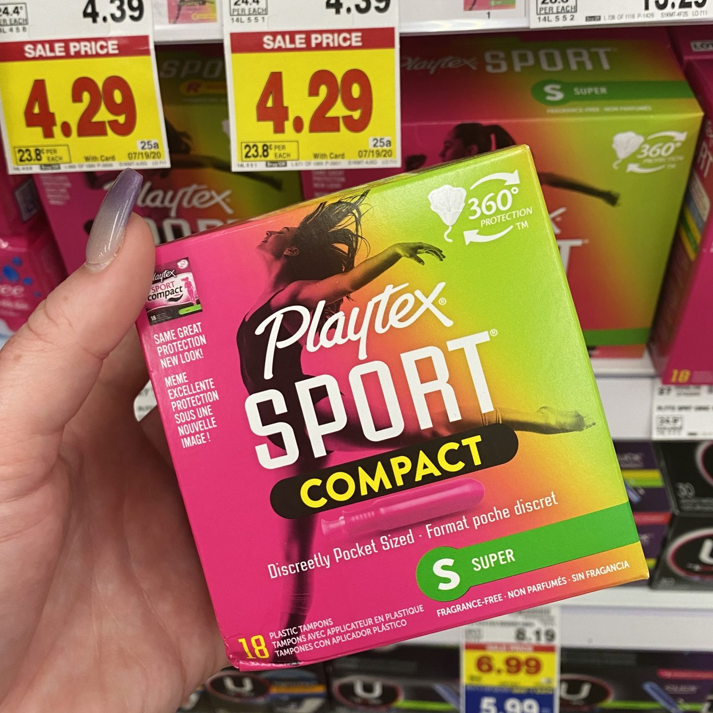 kroger coupon deal playtex sport compact tampons sale