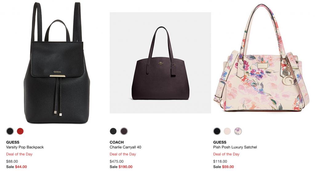 macys deal sale hangbag flash sale luggage backpacks