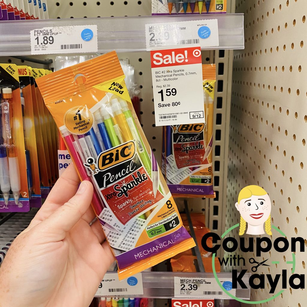 Target bic pencils sale freebie free