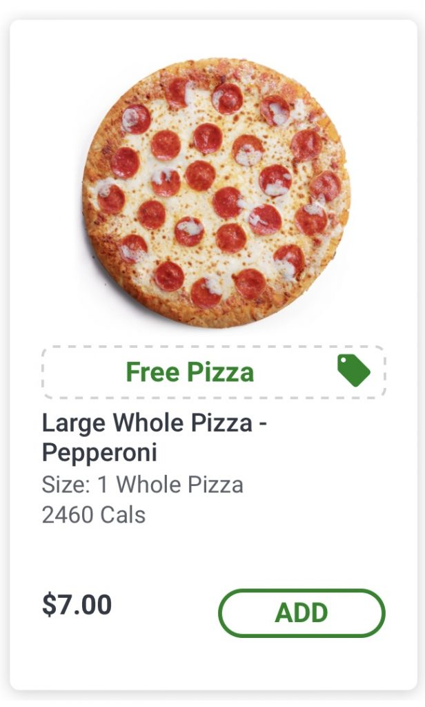 free pizza 7 11